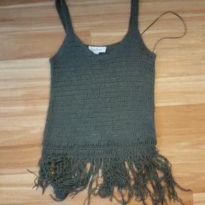 Fringe crochet tank top